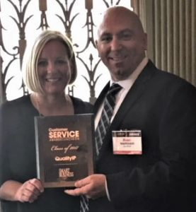 COO Sarah Markham and CEO Ryan Markham enjoy 2017 Customer Service Award Luncheon
