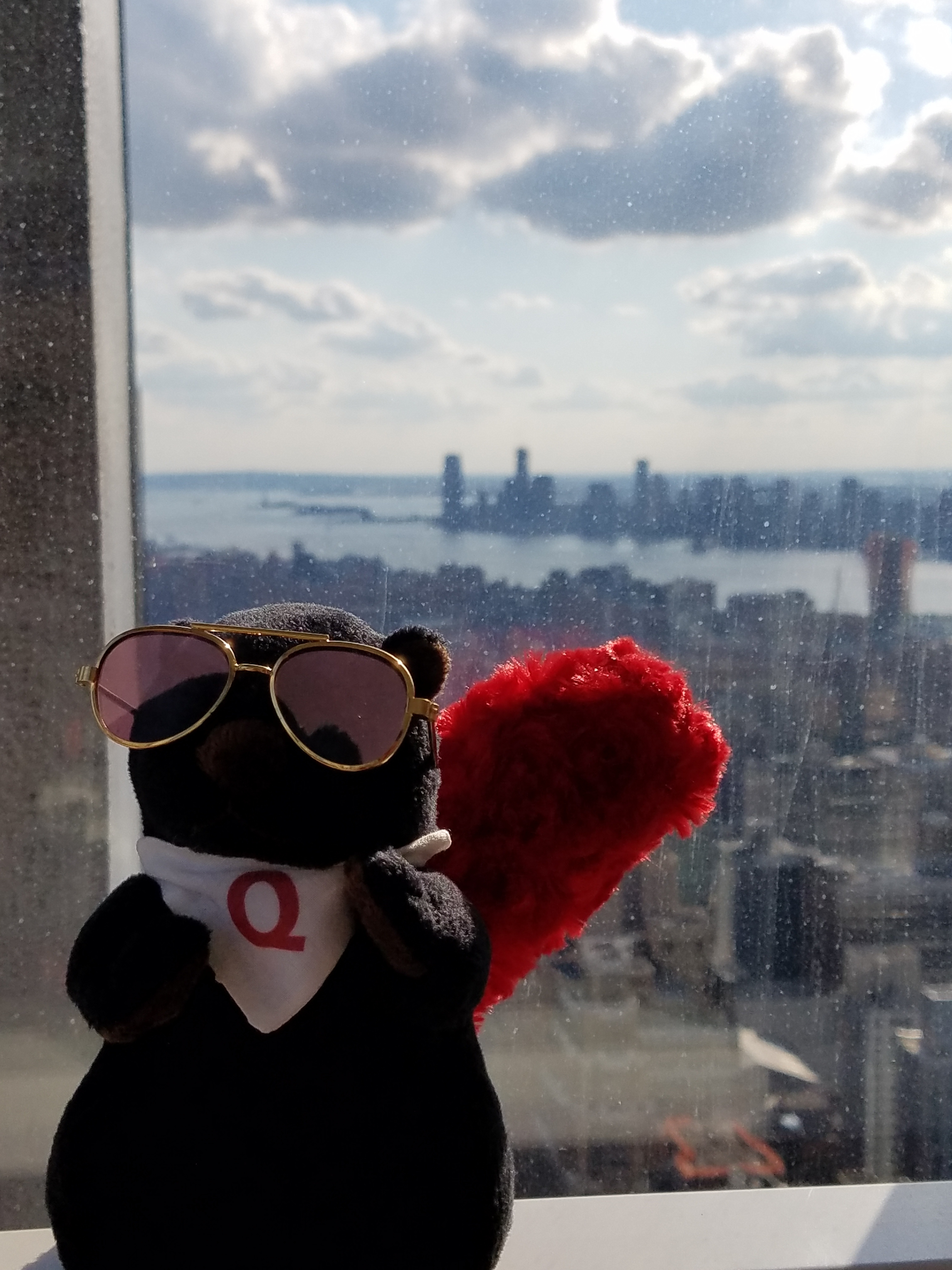 Q takes in the Manhatten Skyline