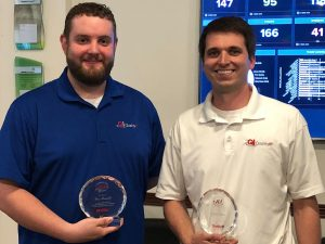 QualityIP managed services companies Wes and Ethan 10th Work Anniversary